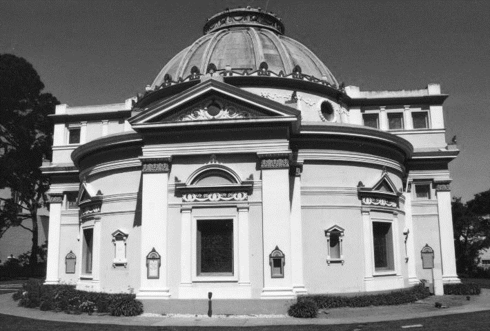 The 'Odd Fellows' Columbarium was a work of art and remains so today. It is the last remaining building from the original Odd Fellows Cemetery and is now operated by 'The Neptune Society'.