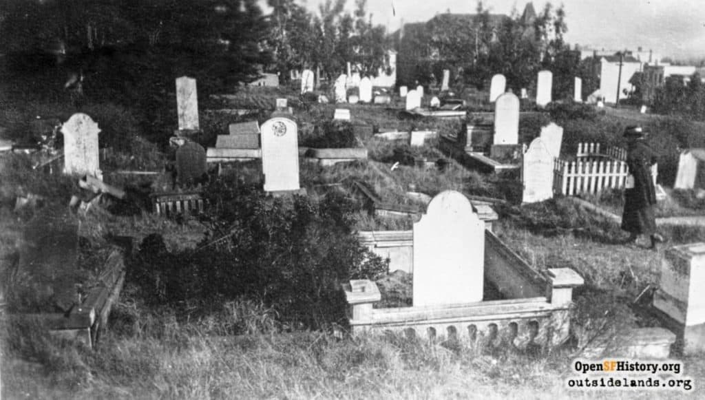 Above and Below. Masonic Cemetery is representative of what was taking place within the cemeteries as funding dwindled in the 1890's. Overgrown trees and shrubs, weeds, damaged stone work, and unkempt family plots were common place.