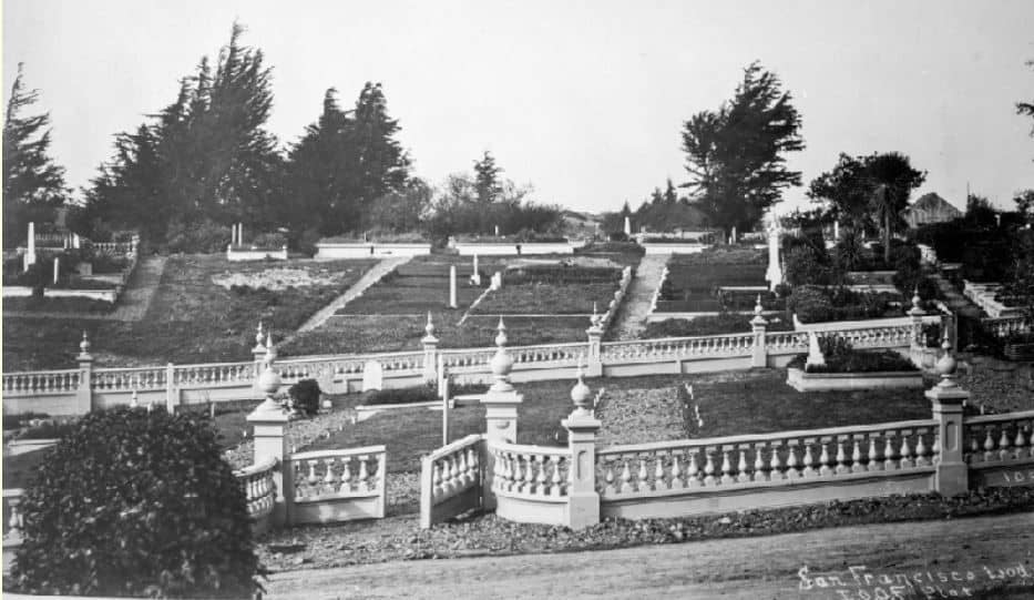 Ornate stone fencing with broad paths and landscaping proved a wonderful place for San Franciscans to spend a day in the sun…or fog
